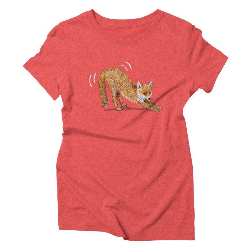Foxy Fox Women's Triblend T-Shirt by Martina Scott's Shop
