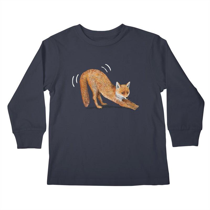 Foxy Fox Kids Longsleeve T-Shirt by Martina Scott's Shop