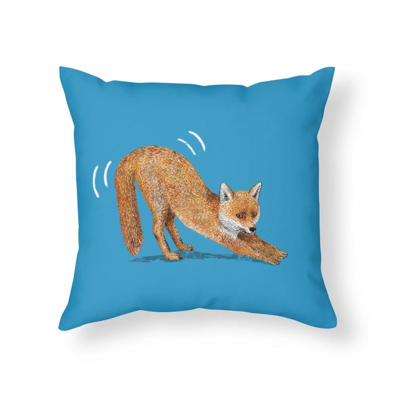 Foxy Fox Home Throw Pillow by Martina Scott's Shop