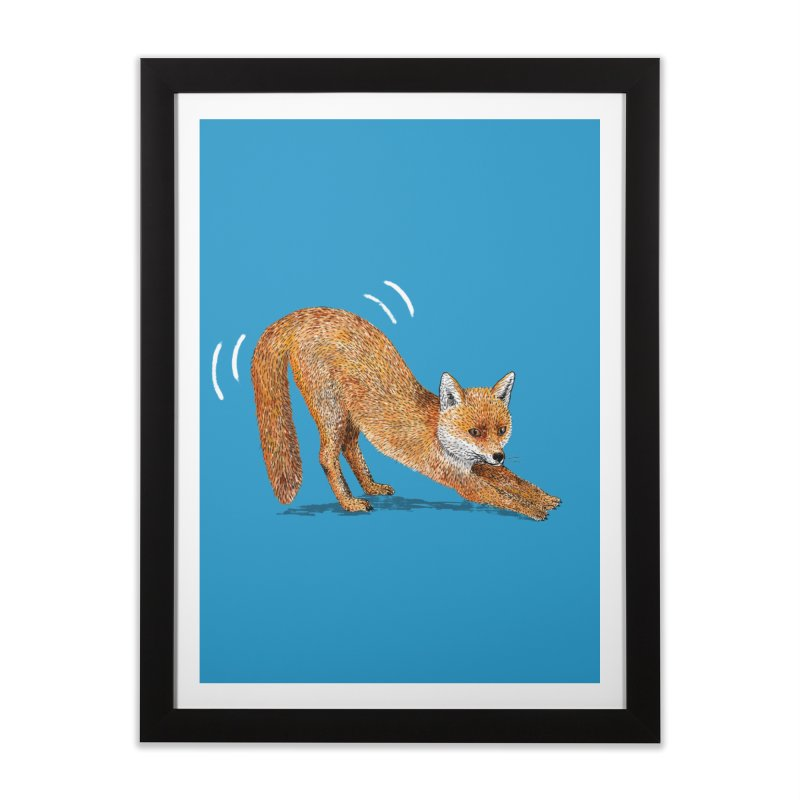 Foxy Fox Home Framed Fine Art Print by Martina Scott's Shop