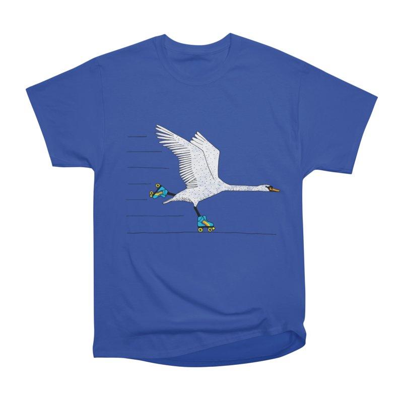Skating Swan Women's Heavyweight Unisex T-Shirt by Martina Scott's Shop