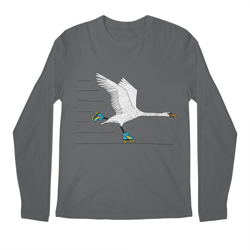 Skating Swan Men's Regular Longsleeve T-Shirt by Martina Scott's Shop