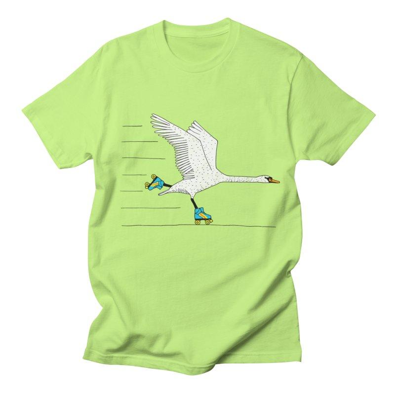 Skating Swan Women's Regular Unisex T-Shirt by Martina Scott's Shop