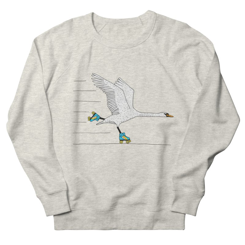 Skating Swan Men's French Terry Sweatshirt by Martina Scott's Shop