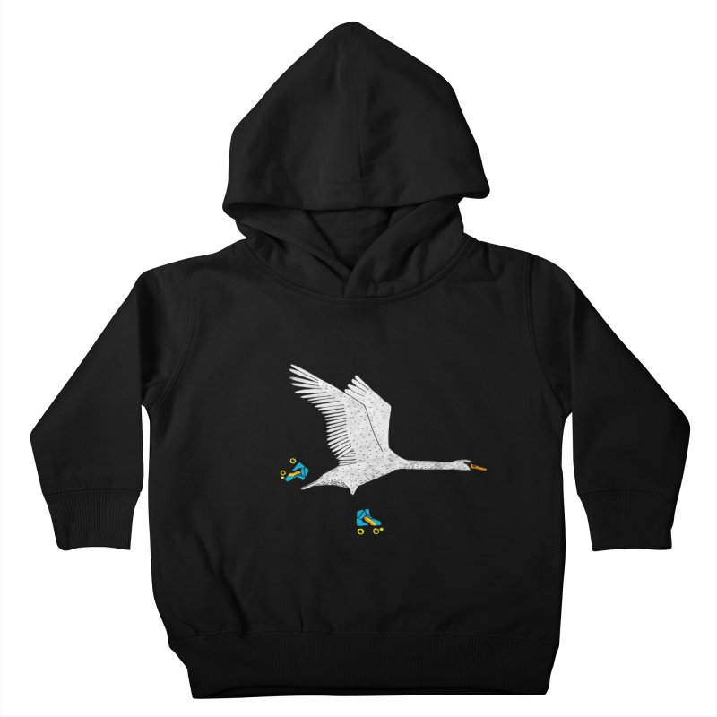 Skating Swan Kids Toddler Pullover Hoody by Martina Scott's Shop