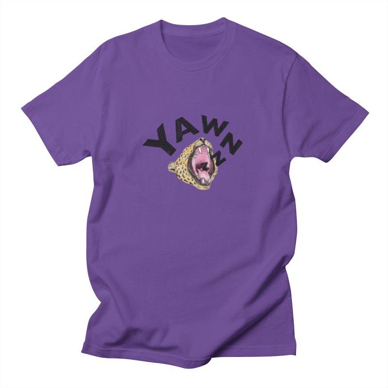 Yawning Leopard Men's Regular T-Shirt by Martina Scott's Shop