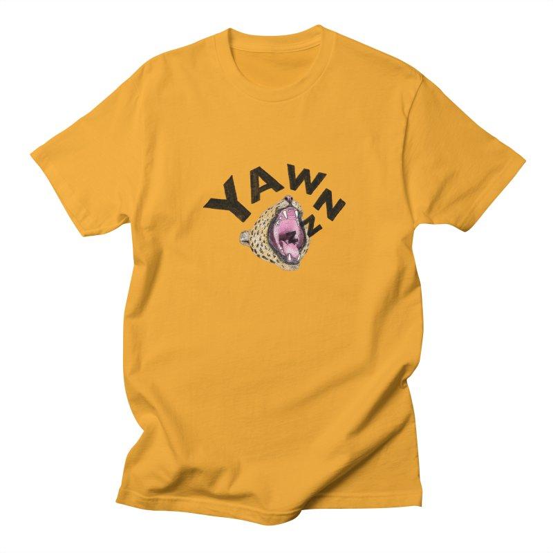 Yawning Leopard Women's Regular Unisex T-Shirt by Martina Scott's Shop