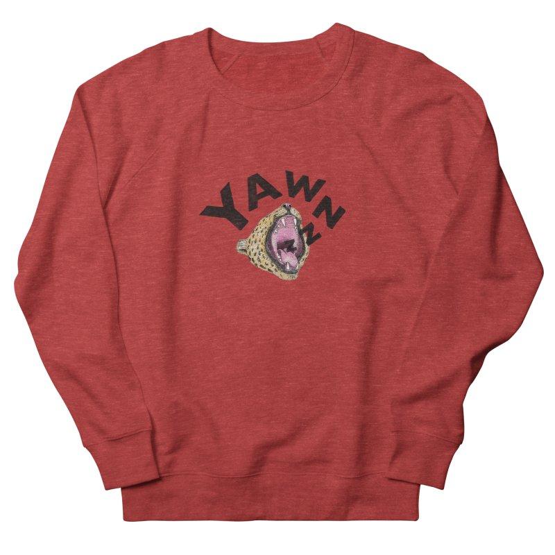 Yawning Leopard Men's French Terry Sweatshirt by Martina Scott's Shop