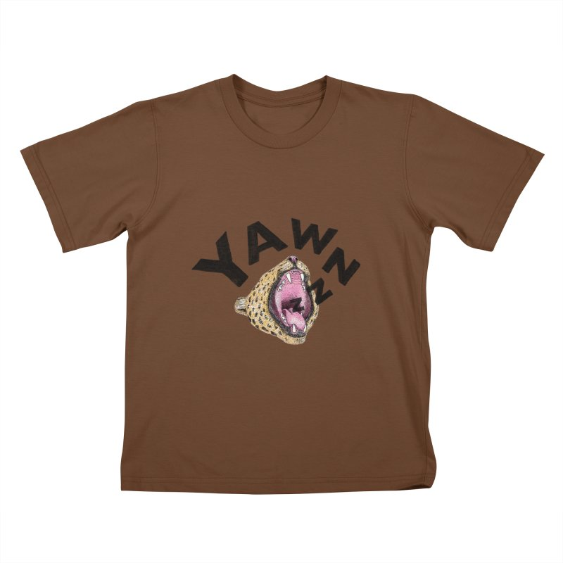 Yawning Leopard Kids T-Shirt by Martina Scott's Shop