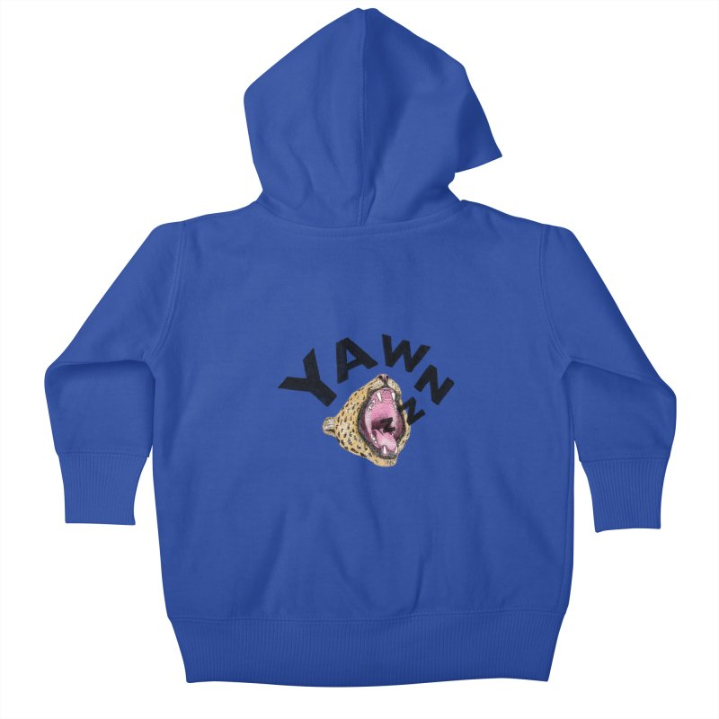 Yawning Leopard Kids Baby Zip-Up Hoody by Martina Scott's Shop