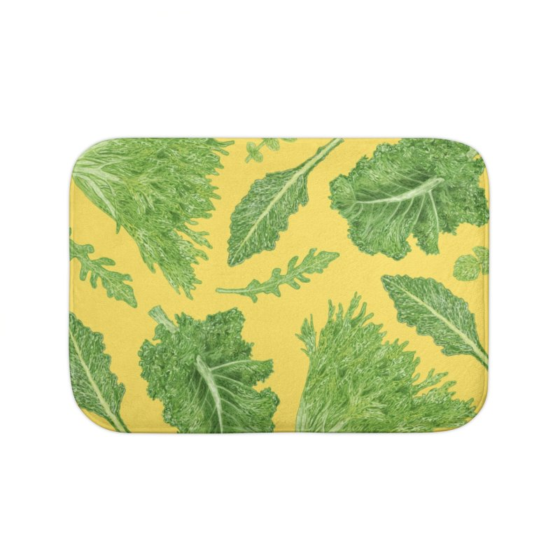 Leafy Home Bath Mat by Martina Scott's Shop