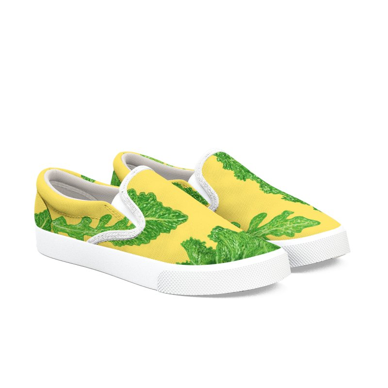 Leafy Women's Slip-On Shoes by Martina Scott's Shop