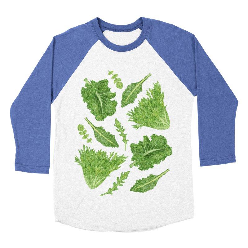 Leafy Women's Baseball Triblend Longsleeve T-Shirt by Martina Scott's Shop