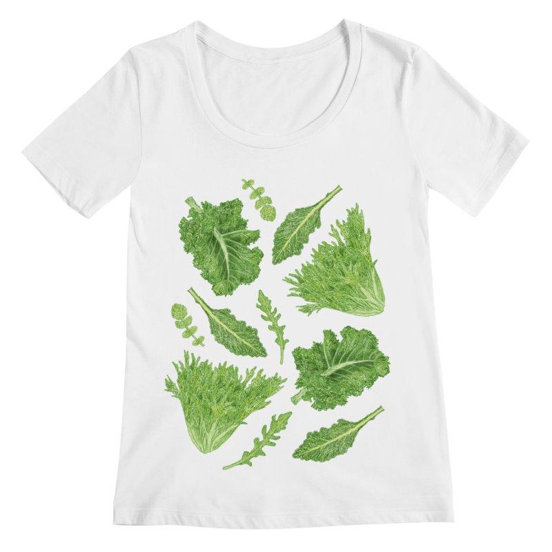 Leafy Women's Regular Scoop Neck by Martina Scott's Shop