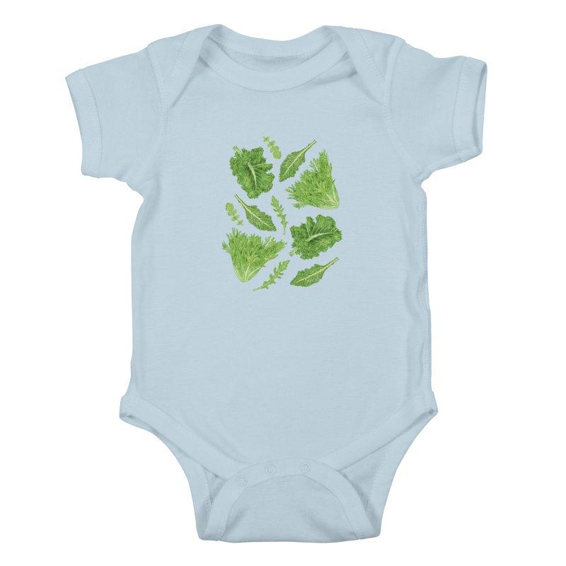 Leafy Kids Baby Bodysuit by Martina Scott's Shop