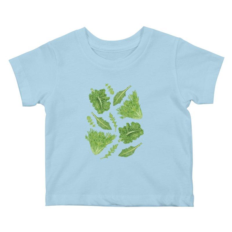 Leafy Kids Baby T-Shirt by Martina Scott's Shop