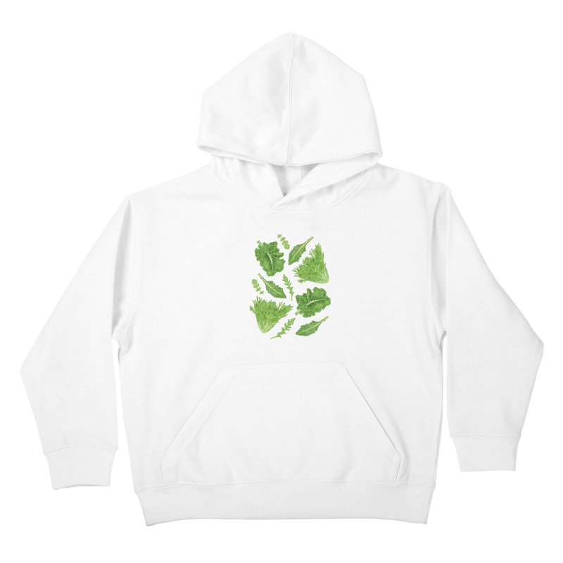 Leafy Kids Pullover Hoody by Martina Scott's Shop