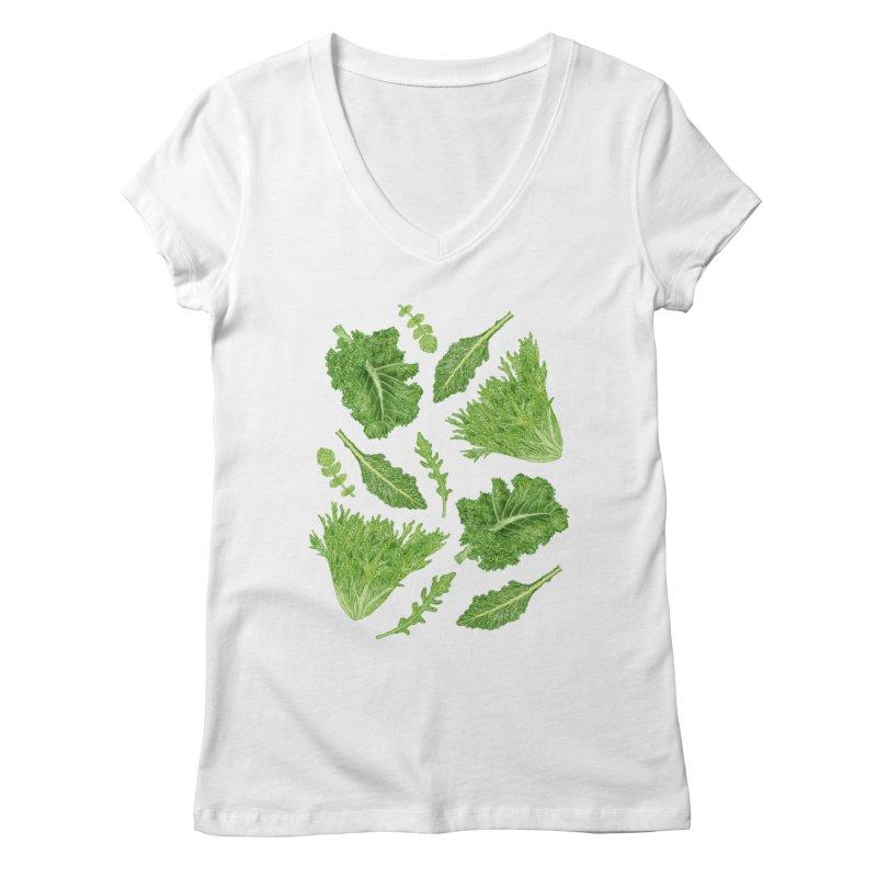 Leafy Women's Regular V-Neck by Martina Scott's Shop