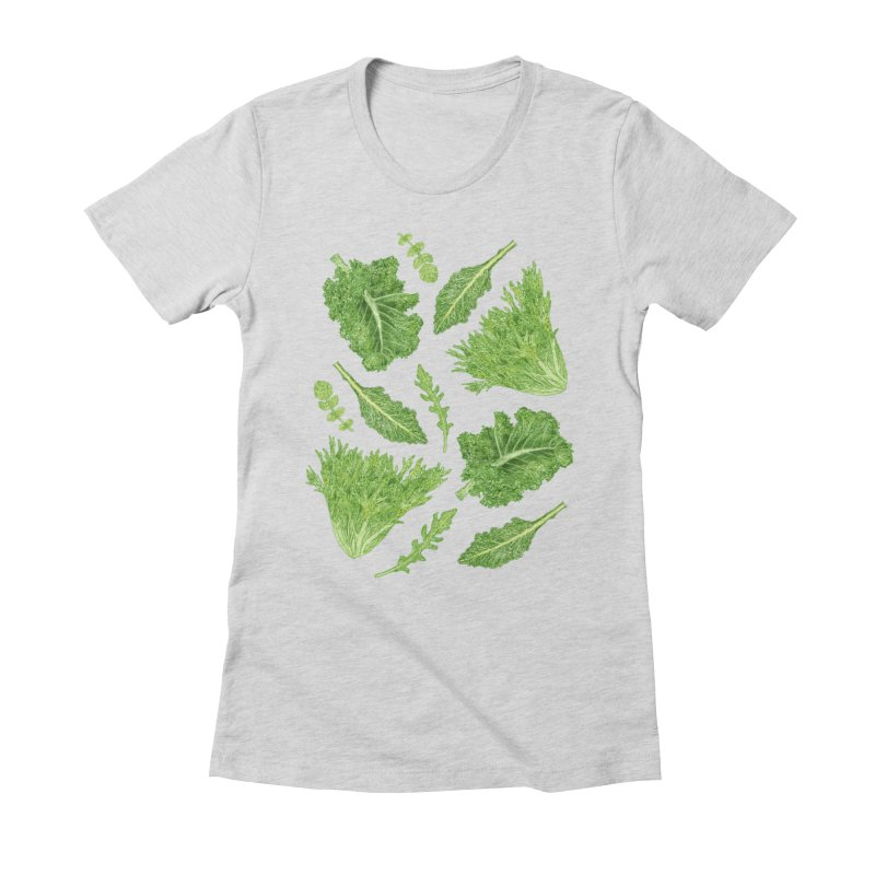 Leafy Women's Fitted T-Shirt by Martina Scott's Shop