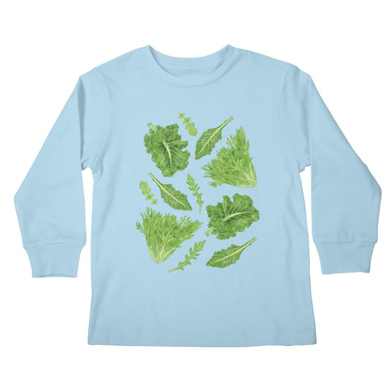Leafy Kids Longsleeve T-Shirt by Martina Scott's Shop