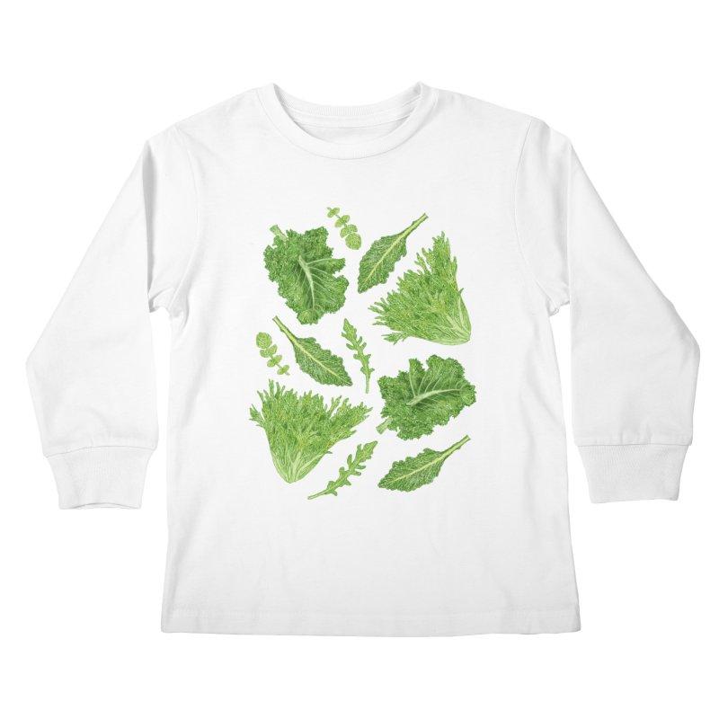 Leafy Kids Longsleeve T-Shirt by Martina Scott's Shop