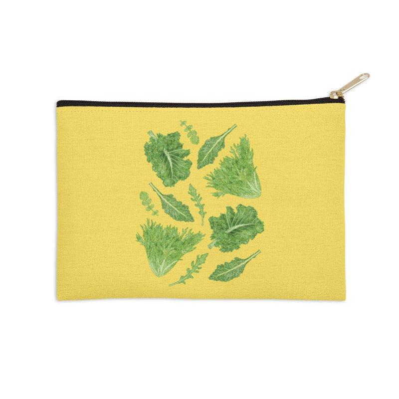 Leafy Accessories Zip Pouch by Martina Scott's Shop