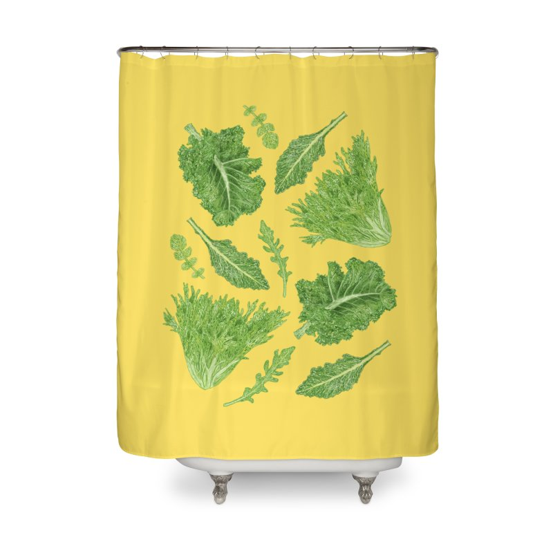Leafy Home Shower Curtain by Martina Scott's Shop