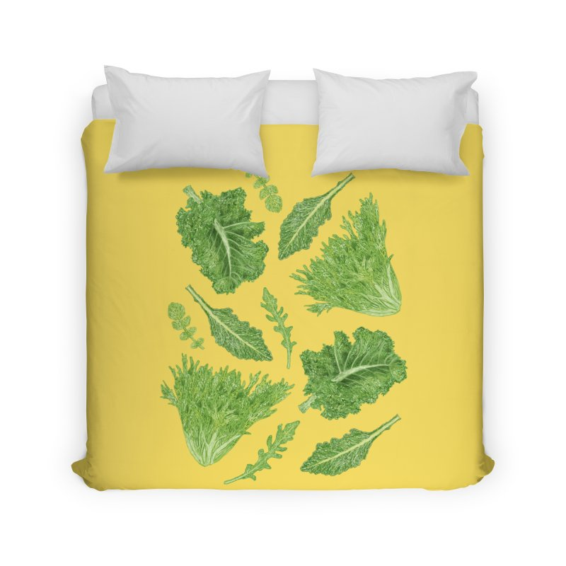 Leafy Home Duvet by Martina Scott's Shop
