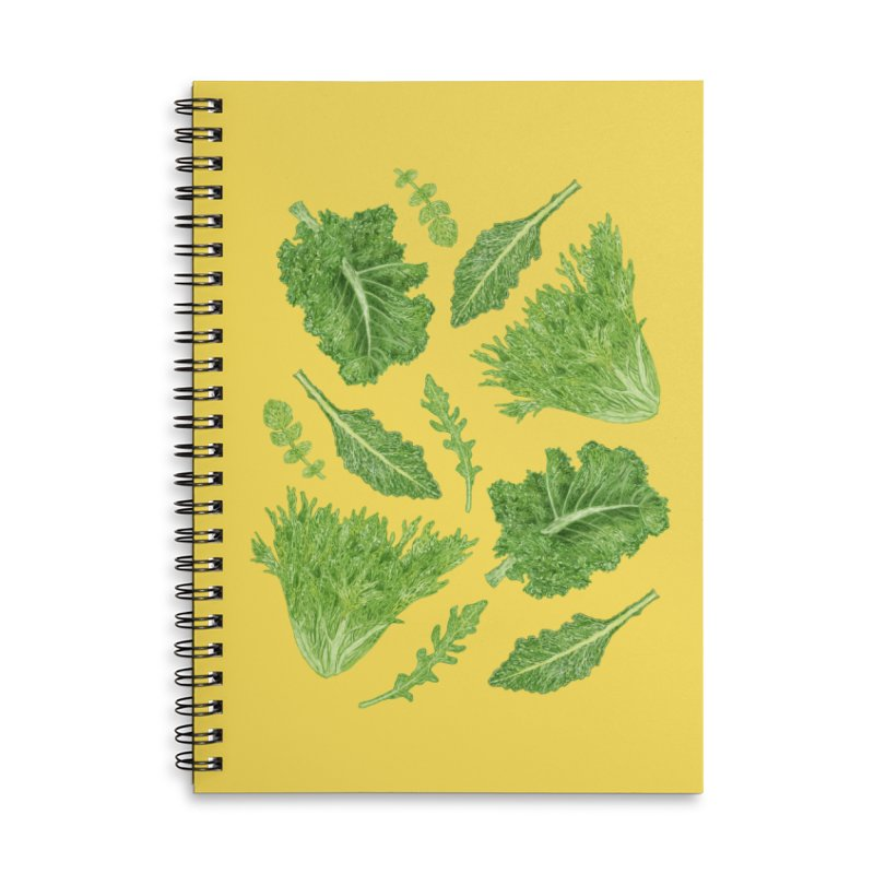 Leafy Accessories Lined Spiral Notebook by Martina Scott's Shop