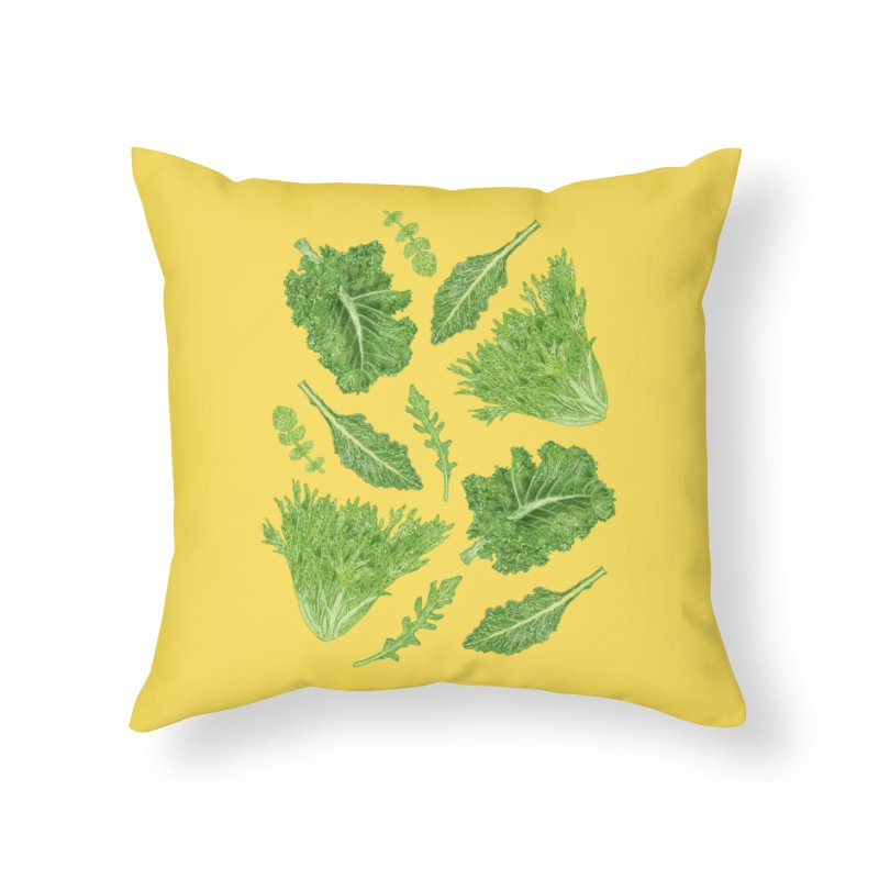 Leafy Home Throw Pillow by Martina Scott's Shop