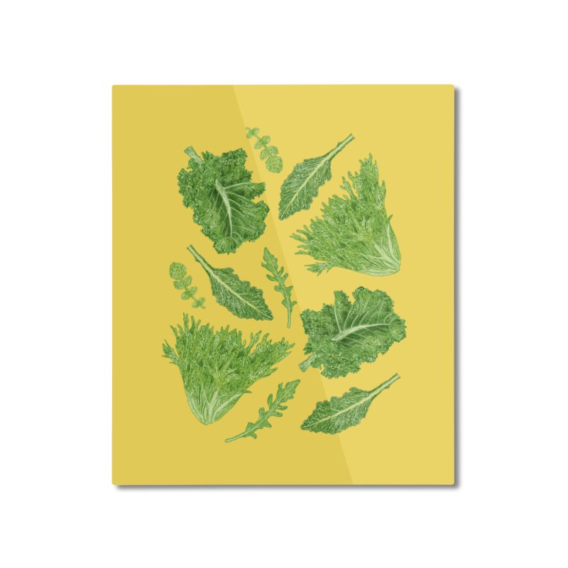 Leafy Home Mounted Aluminum Print by Martina Scott's Shop
