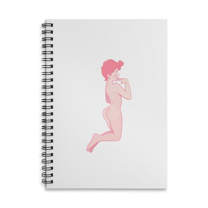 Pretty Boy Strawberry Accessories Lined Spiral Notebook by Martin Bedolla's Artist Shop
