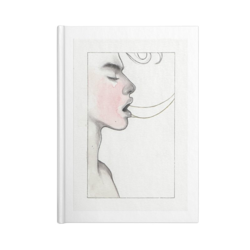 BREATHE Accessories Lined Journal Notebook by Martin Bedolla's Artist Shop
