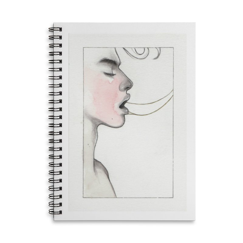 BREATHE Accessories Lined Spiral Notebook by Martin Bedolla's Artist Shop
