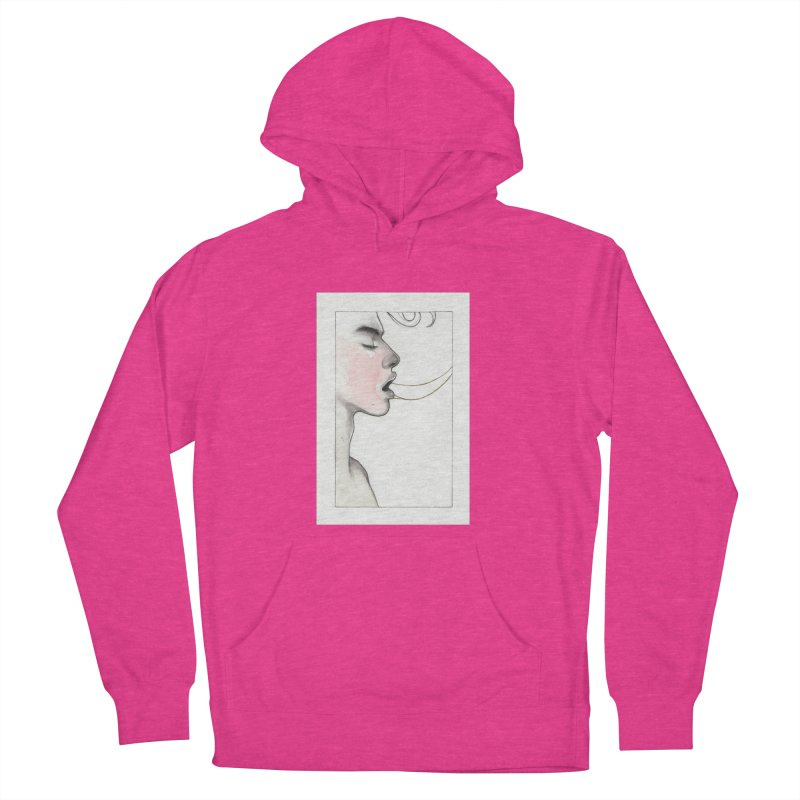 BREATHE Women's French Terry Pullover Hoody by Martin Bedolla's Artist Shop