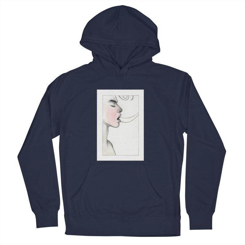 BREATHE Men's French Terry Pullover Hoody by Martin Bedolla's Artist Shop