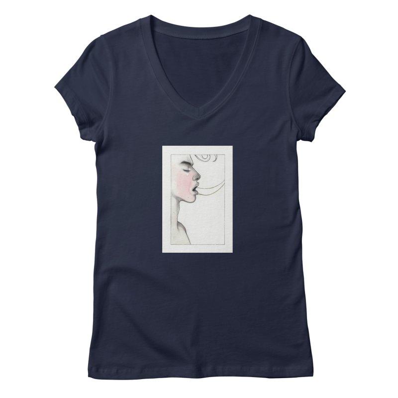 BREATHE Women's Regular V-Neck by Martin Bedolla's Artist Shop