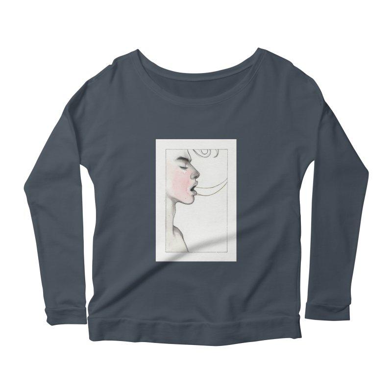 BREATHE Women's Scoop Neck Longsleeve T-Shirt by Martin Bedolla's Artist Shop