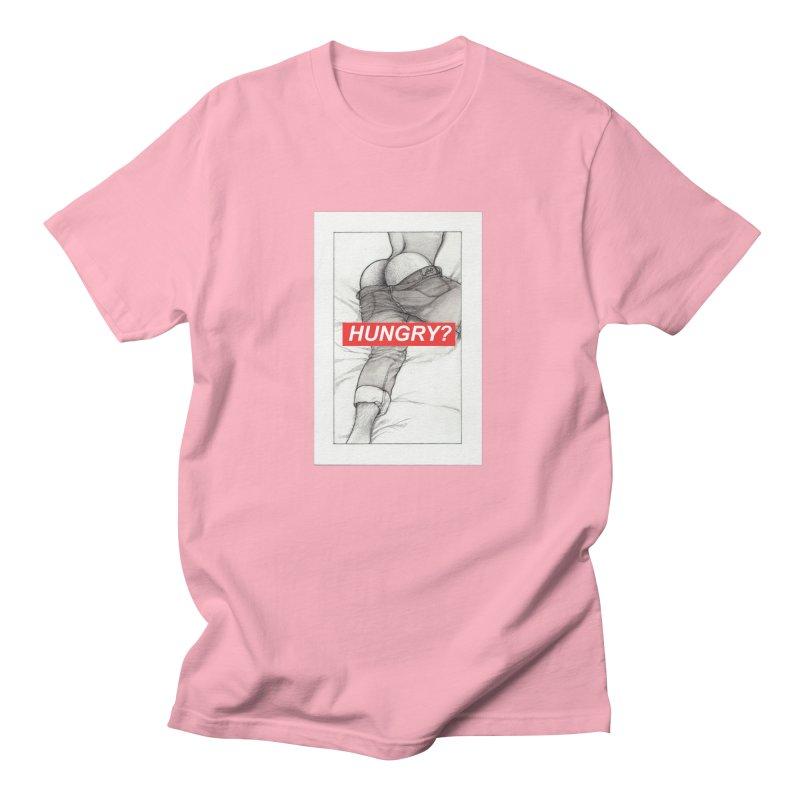 HUNGRY? Men's Regular T-Shirt by Martin Bedolla's Artist Shop