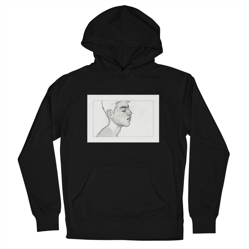 FACIAL Men's French Terry Pullover Hoody by Martin Bedolla's Artist Shop