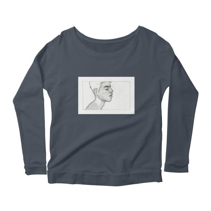 FACIAL Women's Scoop Neck Longsleeve T-Shirt by Martin Bedolla's Artist Shop