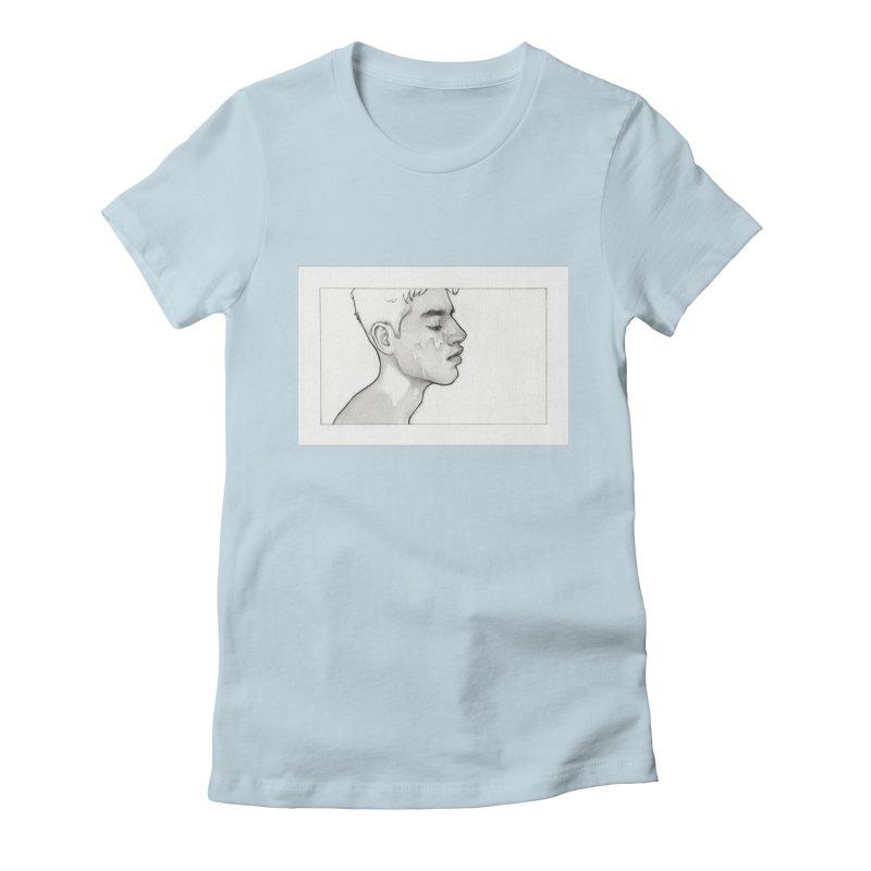 FACIAL Women's Fitted T-Shirt by Martin Bedolla's Artist Shop