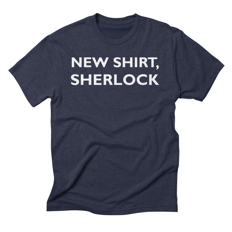 Sherlock in Men's Triblend T-Shirt Navy by Martin EaZee