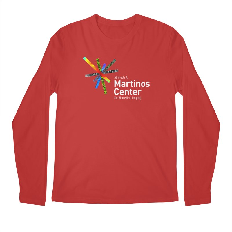 Martinos Center Logo (White Text) Men's Longsleeve T-Shirt by martinos's Artist Shop