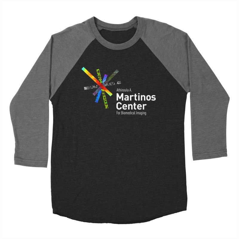 Martinos Center Logo (White Text) Women's Baseball Triblend Longsleeve T-Shirt by martinos's Artist Shop