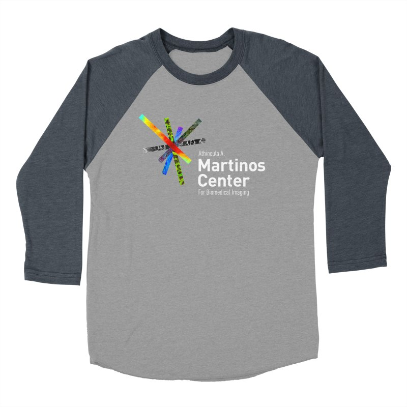 Martinos Center Logo (White Text) Women's Baseball Triblend T-Shirt by martinos's Artist Shop