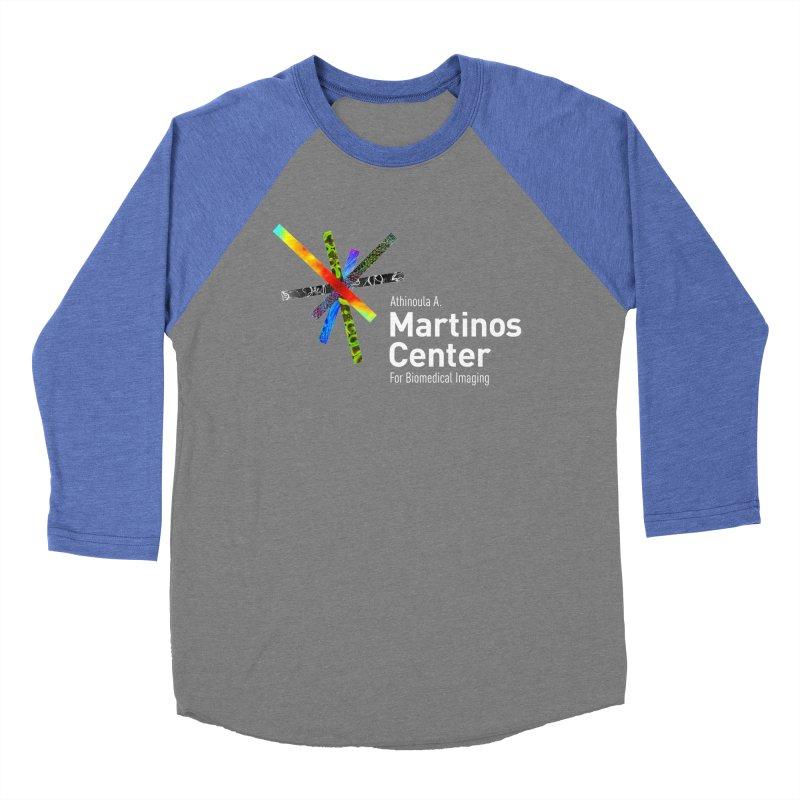 Martinos Center Logo (White Text) Men's Baseball Triblend Longsleeve T-Shirt by martinos's Artist Shop
