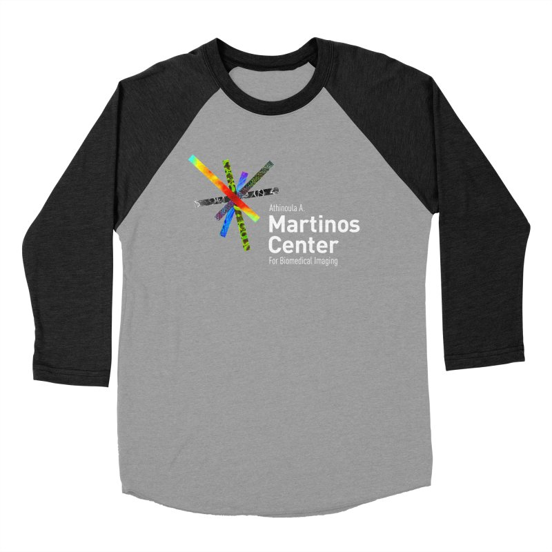 Martinos Center Logo (White Text) Men's Baseball Triblend Longsleeve T-Shirt by martinos's Artist Shop