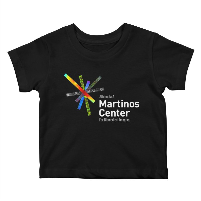 Martinos Center Logo (White Text) Kids Baby T-Shirt by martinos's Artist Shop