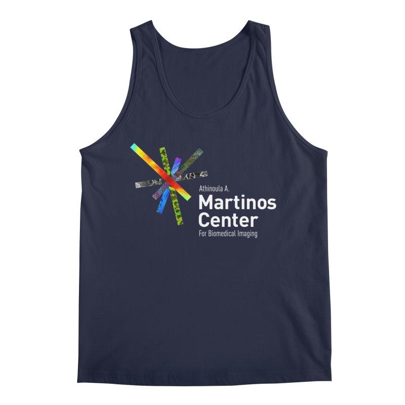 Martinos Center Logo (White Text) Men's Regular Tank by martinos's Artist Shop
